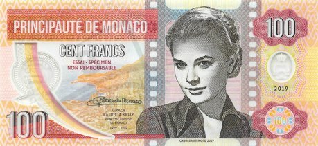 100 Francs 2019 Grace Kelly