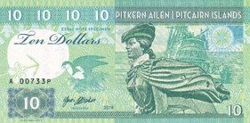 10 Dollars 2018 Pitcairn Islands