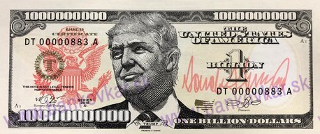 1 Billion Dollars 2016 Donald Trump