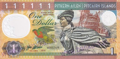1 Dollar 2018 Pitcairn Islands