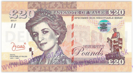 20 Pounds Wales 2017 Diana