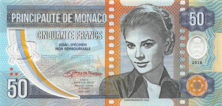 50 Francs 2018 Grace Kelly