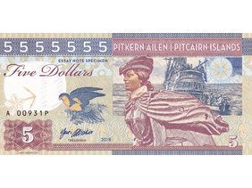 5 Dollars 2018 Pitcairn Islands