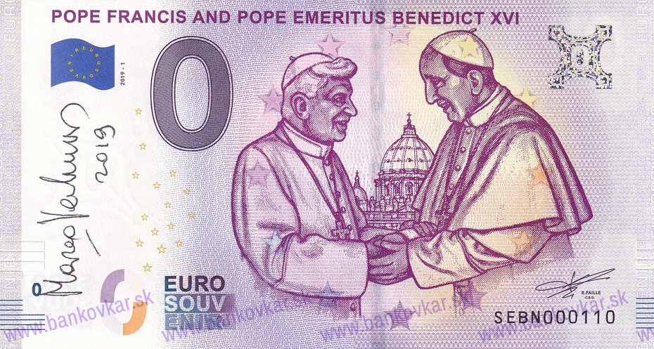 Pope Francis and Pope Emeritus Benedict XVI SEBN 2019-1 /podpis/