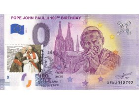 Pope John Paul II 100TH Birthday XENJ 2020-1/známka+pečiatka/